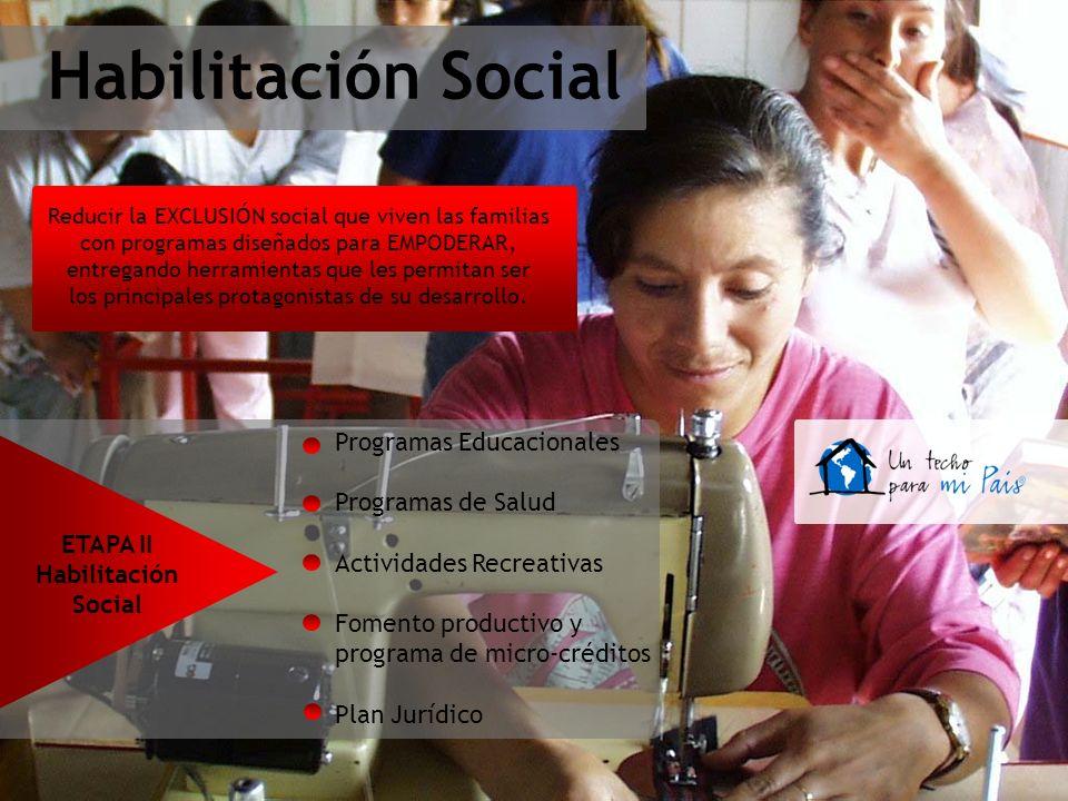 Habilitación Social Programas Educacionales Programas de Salud