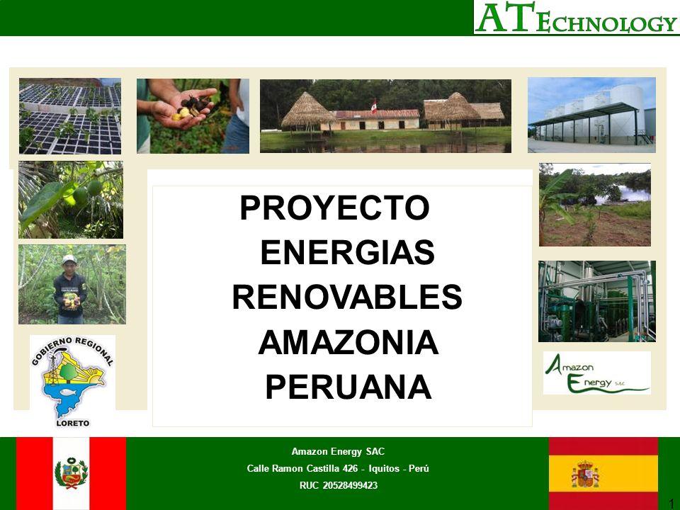 PROYECTO ENERGIAS RENOVABLES AMAZONIA PERUANA
