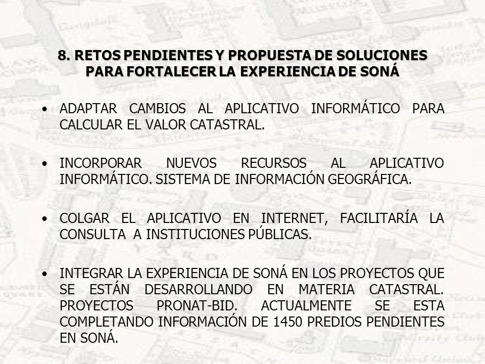 8. RETOS PENDIENTES Y PROPUESTA DE SOLUCIONES PARA FORTALECER LA EXPERIENCIA DE SONÁ