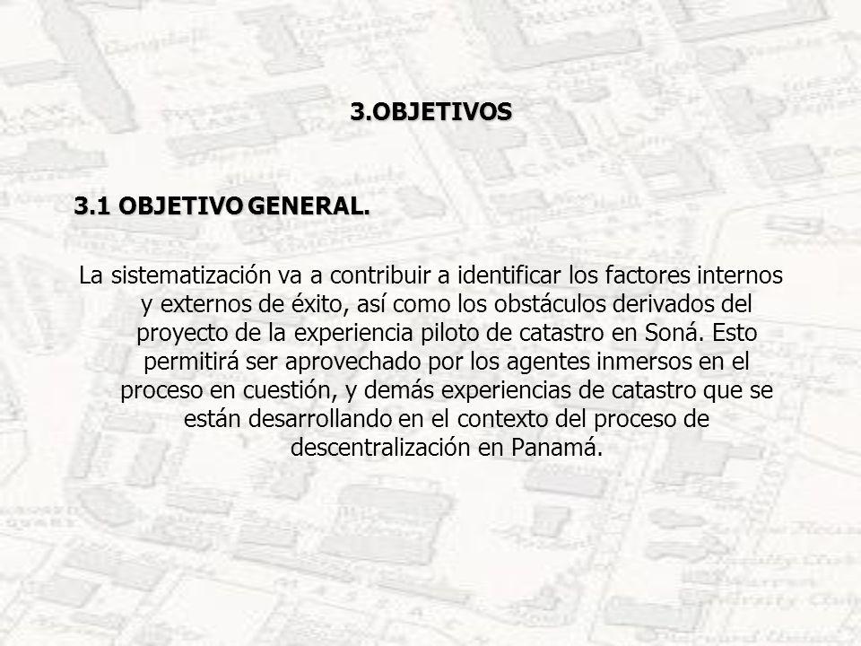 3.OBJETIVOS 3.1 OBJETIVO GENERAL.