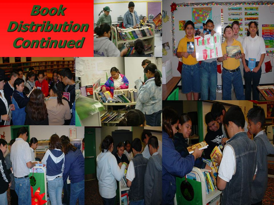 Book Distribution Continued