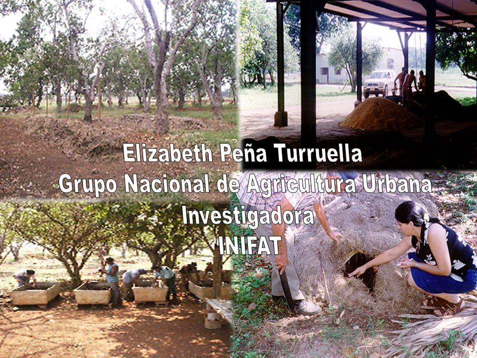 Elizabeth Peña Turruella Grupo Nacional de Agricultura Urbana