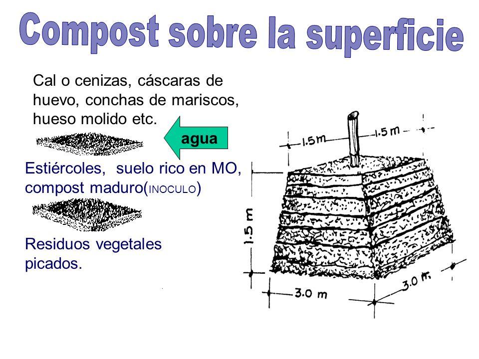 Compost sobre la superficie