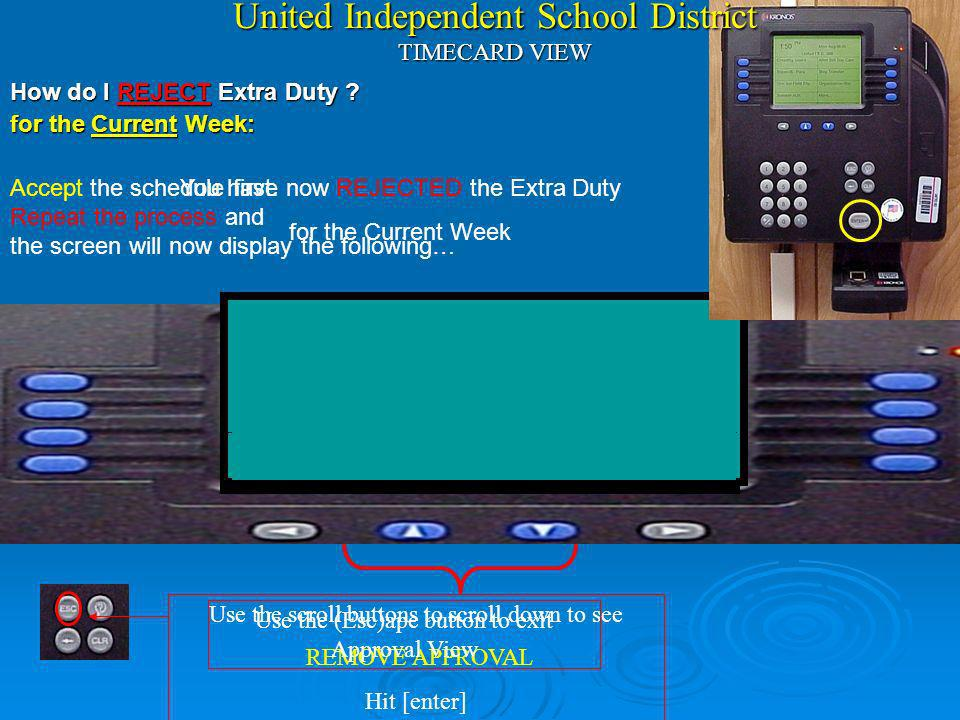 United Independent School District TIMECARD VIEW