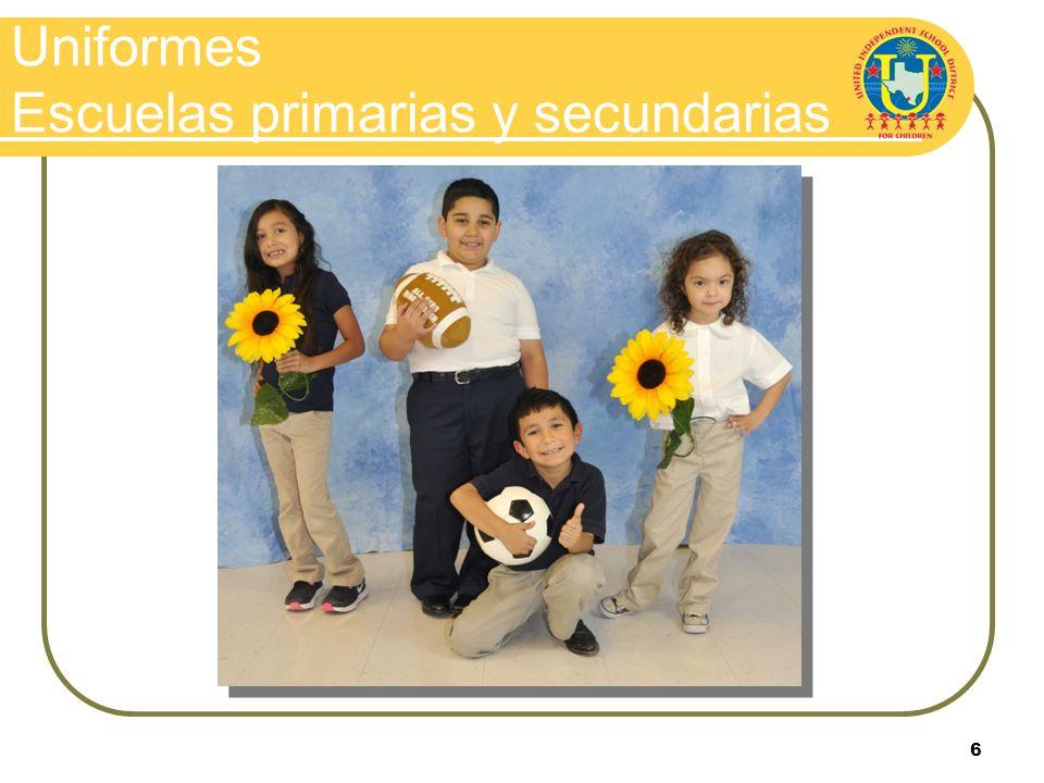 Uniformes Escuelas primarias y secundarias