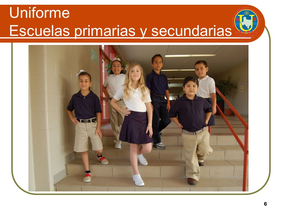 Uniforme Escuelas primarias y secundarias