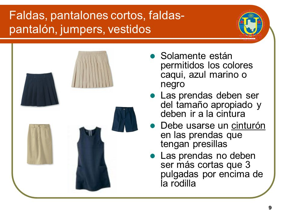 Faldas, pantalones cortos, faldas-pantalón, jumpers, vestidos