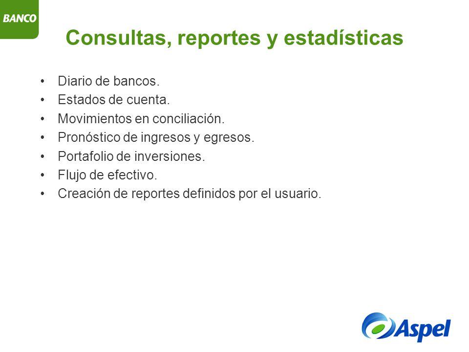 Consultas, reportes y estadísticas