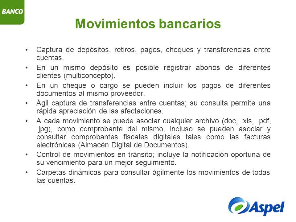 Movimientos bancarios