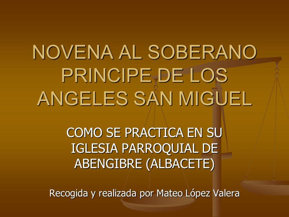 NOVENA AL SOBERANO PRINCIPE DE LOS ANGELES SAN MIGUEL