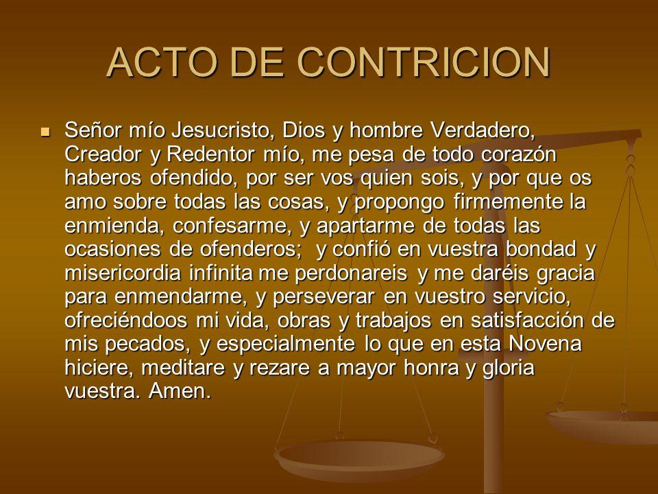 ACTO DE CONTRICION