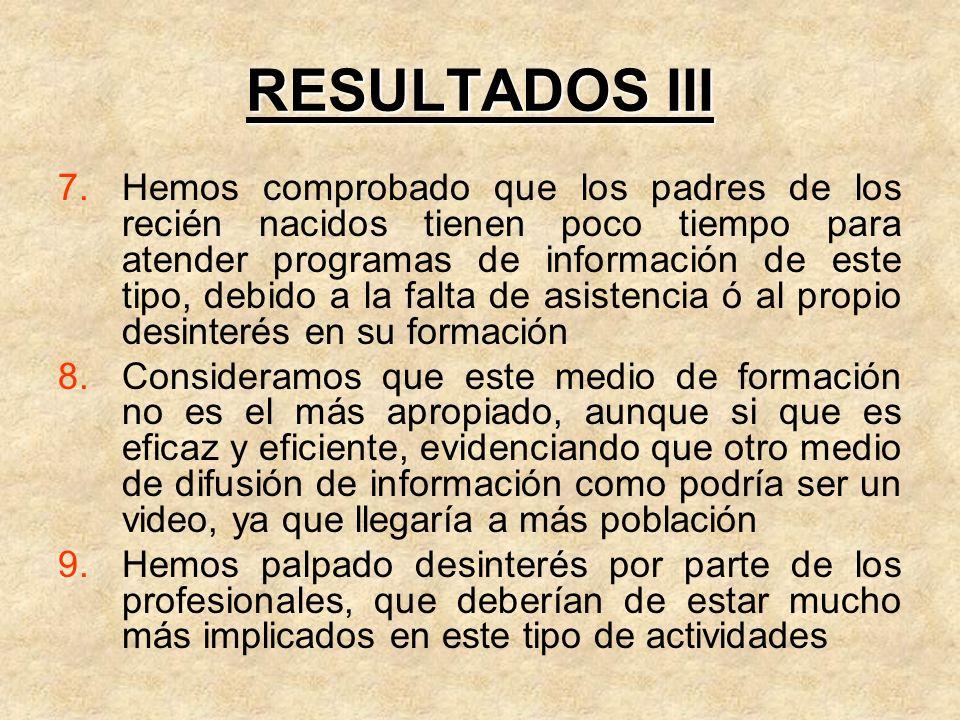 RESULTADOS III