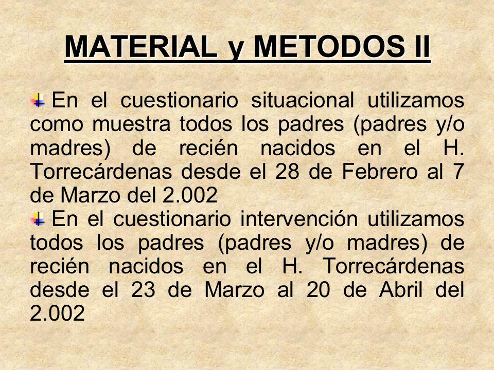 MATERIAL y METODOS II