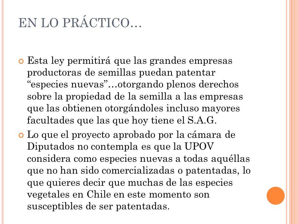 En lo práctico…