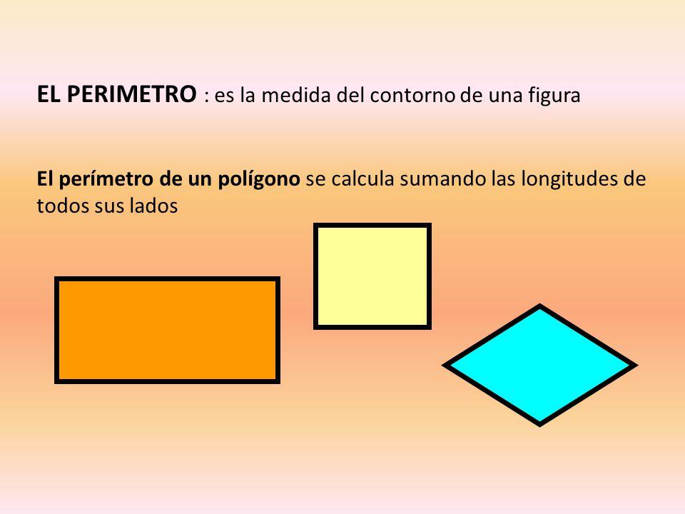 EL PERIMETRO : es la medida del contorno de una figura