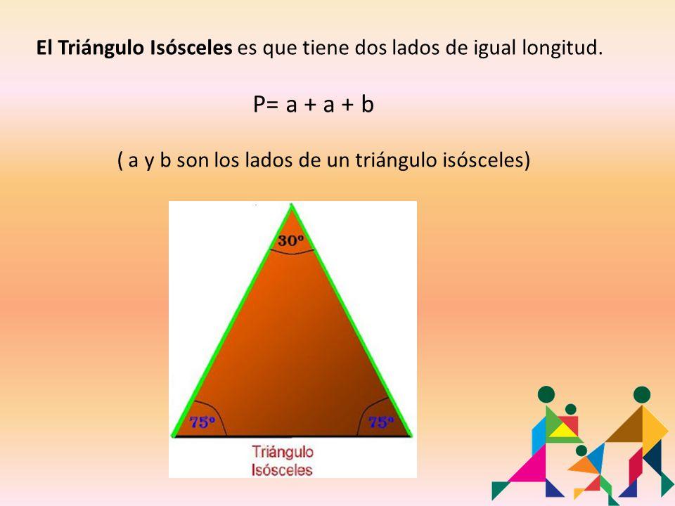 El Triángulo Isósceles es que tiene dos lados de igual longitud.