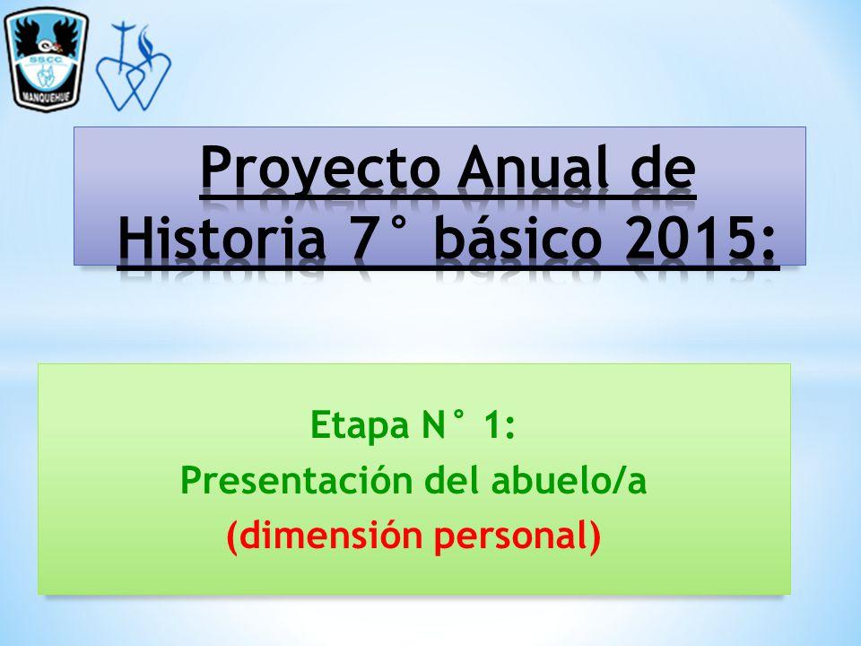 Proyecto Anual De Historia 7 B Sico 2015 Ppt Descargar