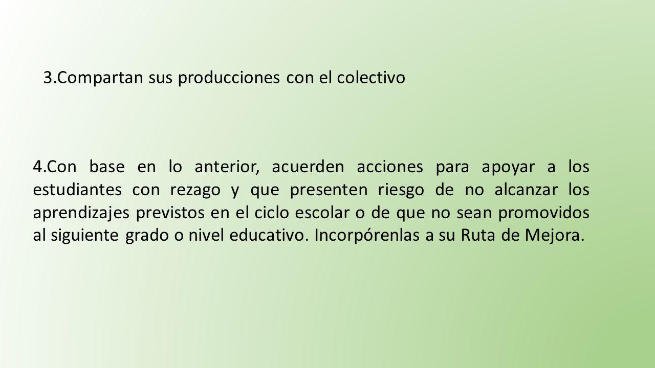 3.Compartan sus producciones con el colectivo
