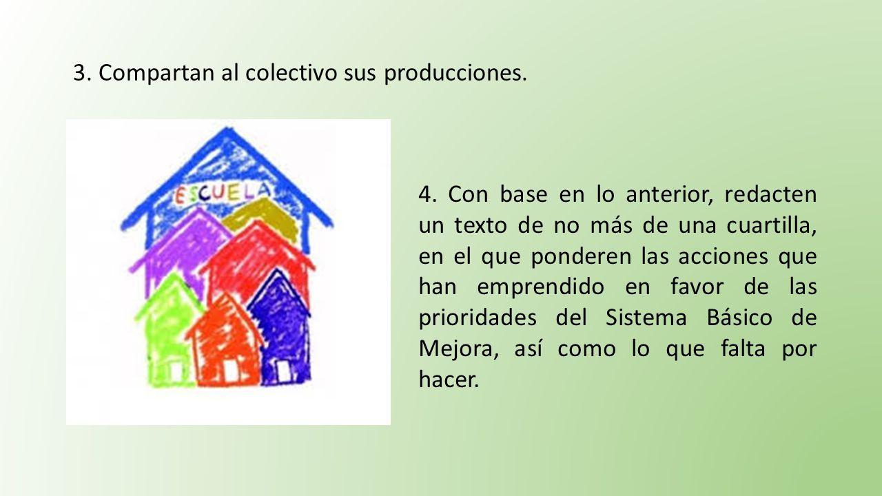 3. Compartan al colectivo sus producciones.