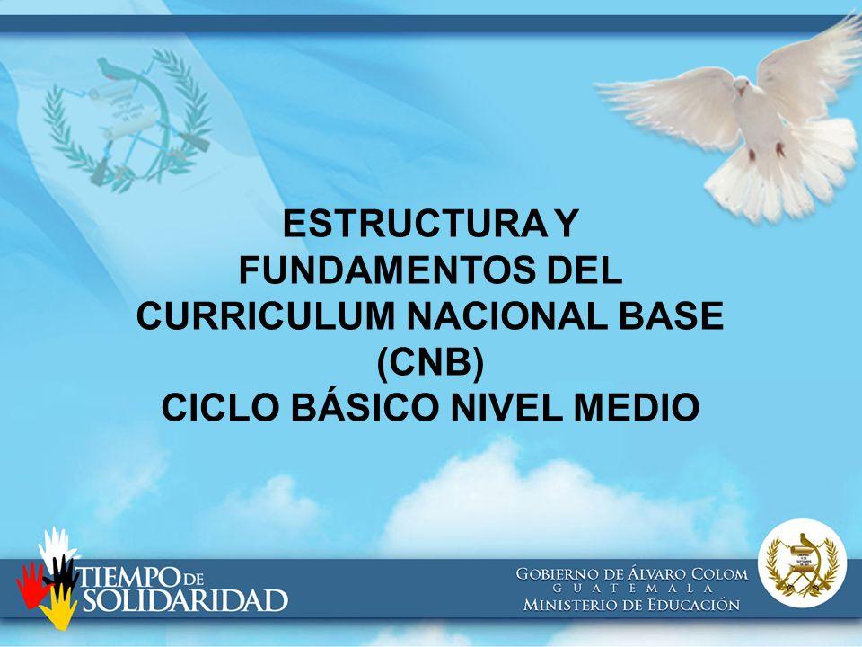 Estructura Y Fundamentos Del Curriculum Nacional Base Cnb