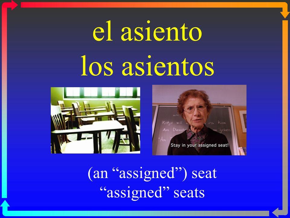 el asiento los asientos