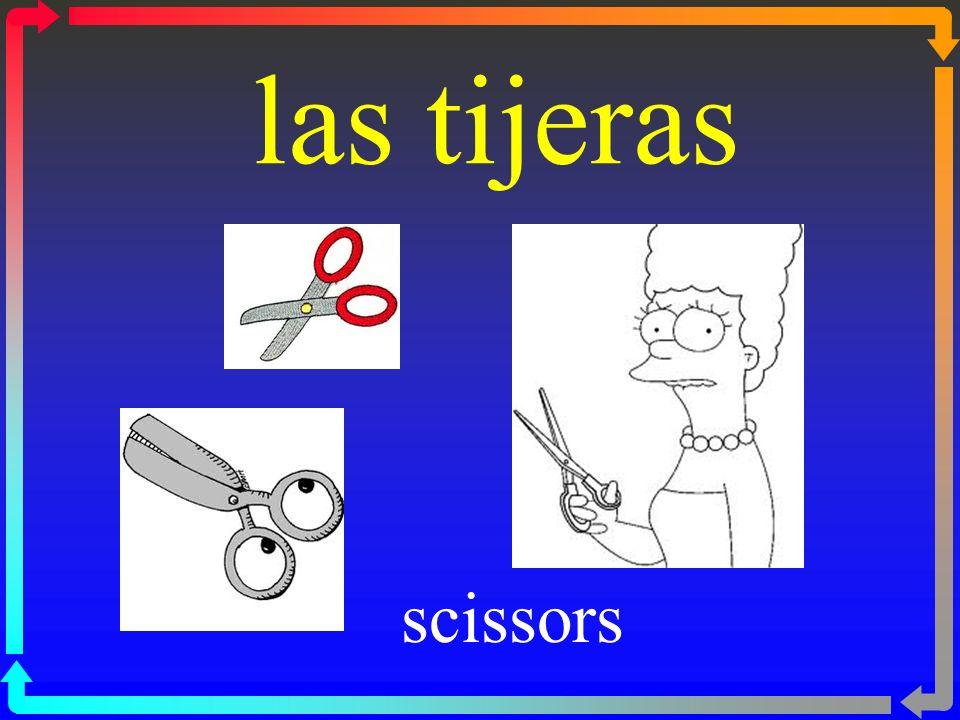las tijeras scissors