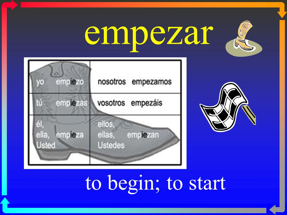 empezar to begin; to start