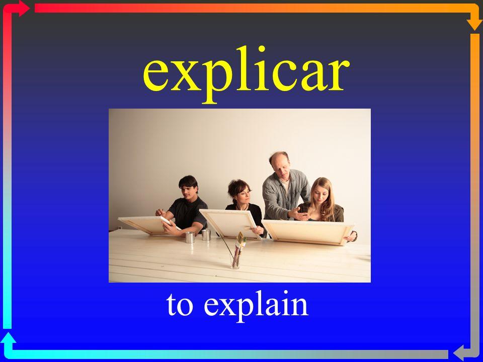 explicar to explain