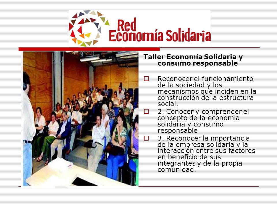Taller Economía Solidaria y consumo responsable