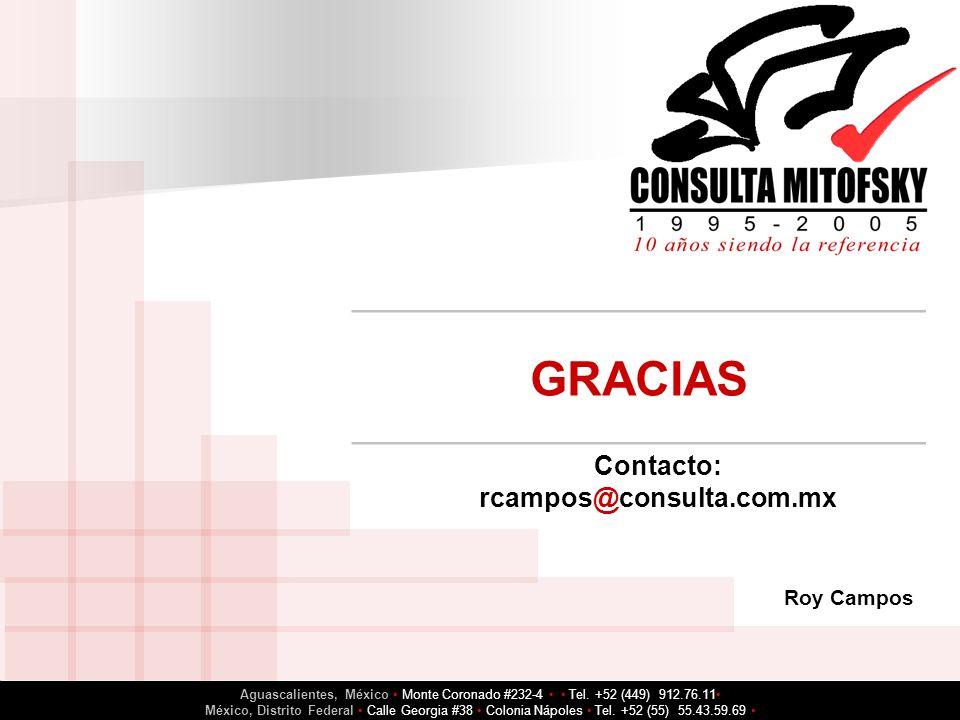 GRACIAS Contacto: rcampos@consulta.com.mx
