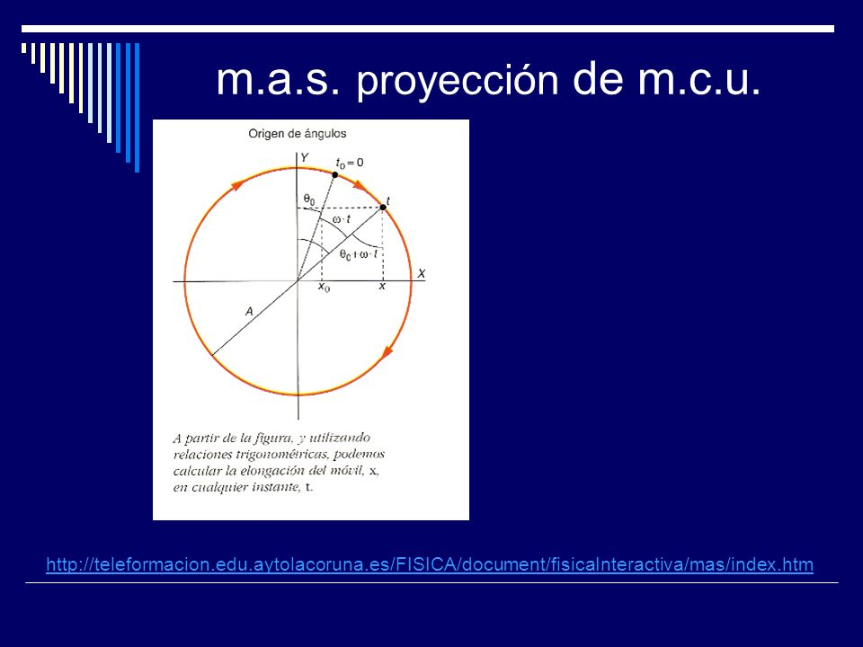 m.a.s. proyección de m.c.u.