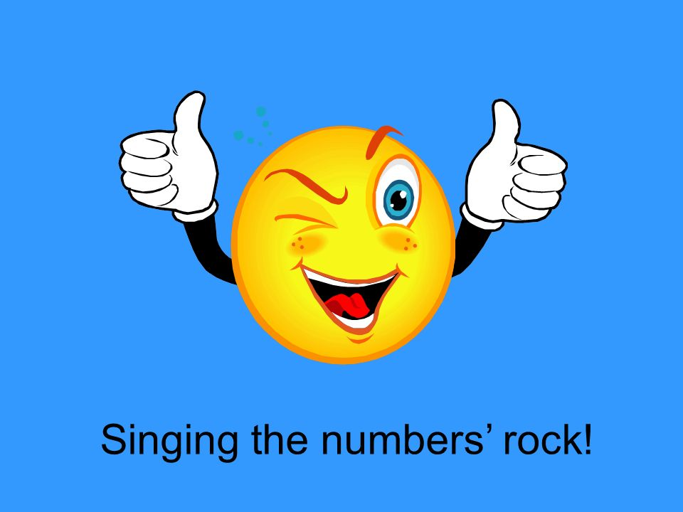 Singing the numbers' rock!