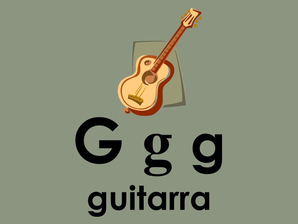 G g g guitarra