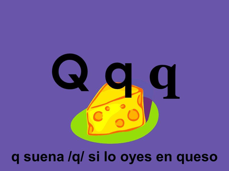q suena /q/ si lo oyes en queso