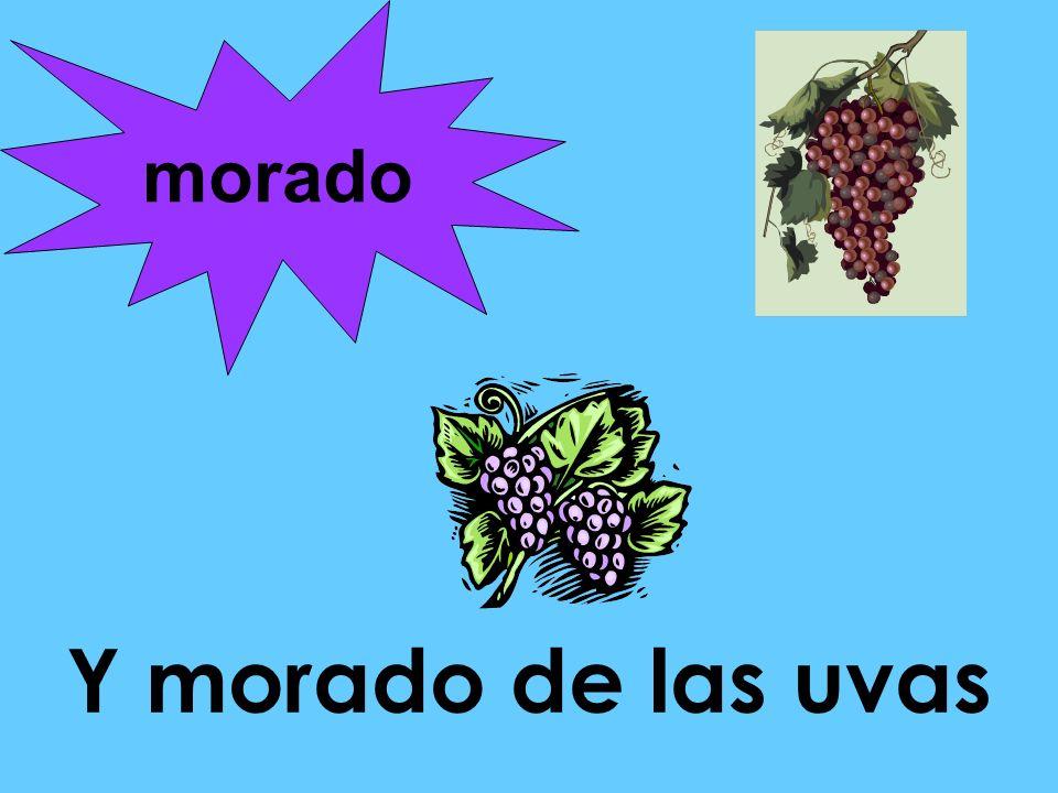 morado Y morado de las uvas