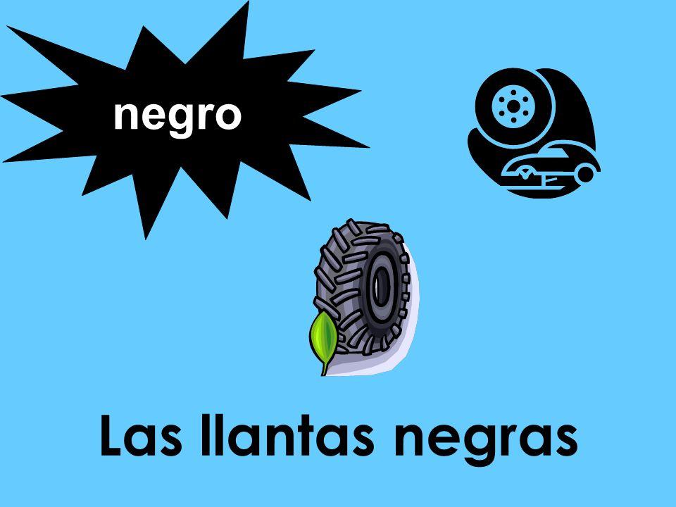 negro Las llantas negras
