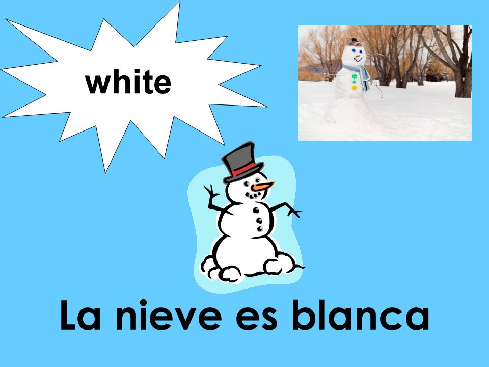 white La nieve es blanca