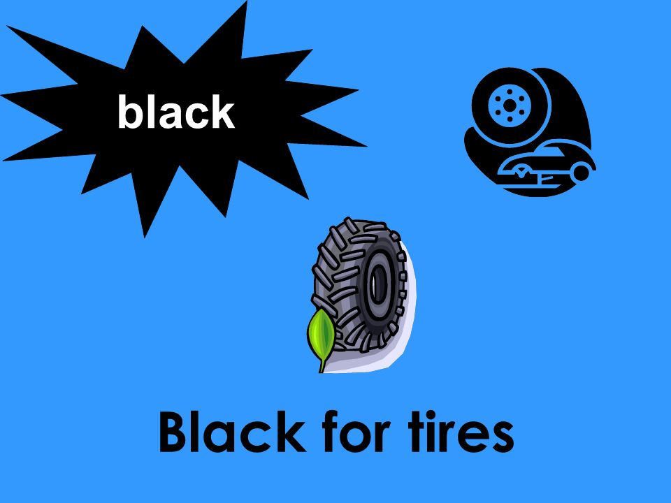 black Black for tires