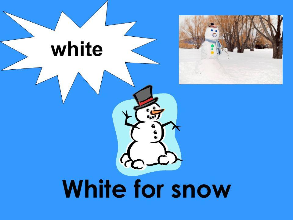 white White for snow