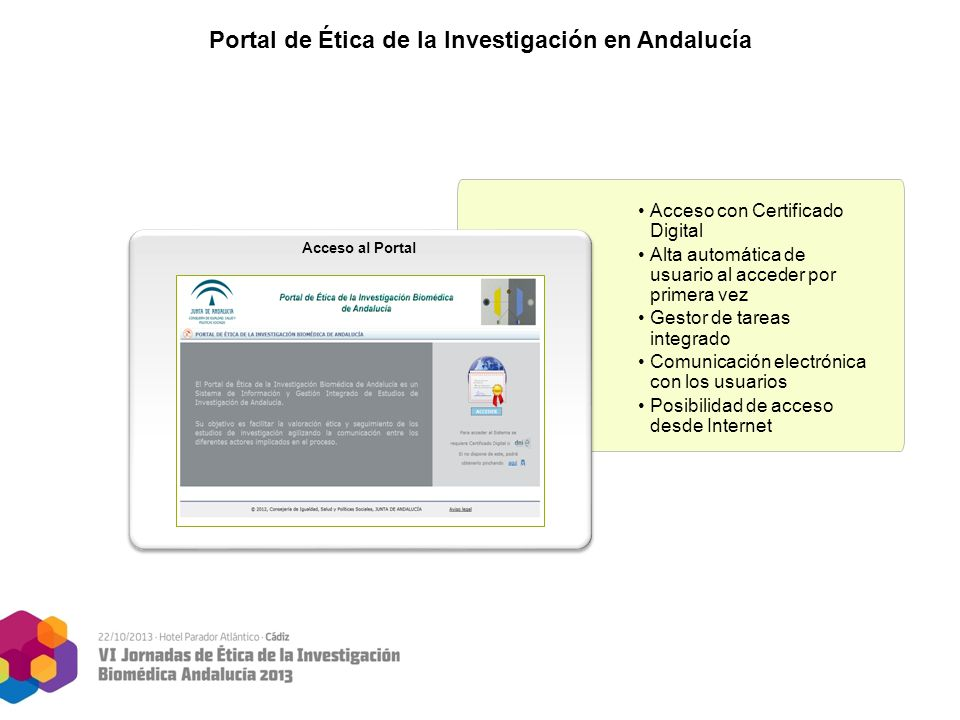 Portal de tica de la investigaci n biom dica de andaluc a for Sellar paro por internet andalucia certificado digital