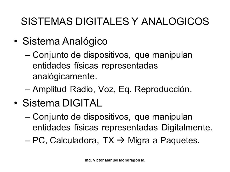 SISTEMAS DIGITALES Y ANALOGICOS