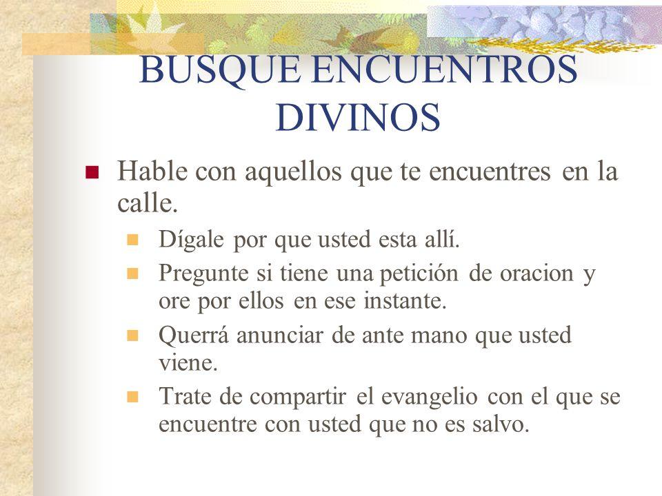 BUSQUE ENCUENTROS DIVINOS