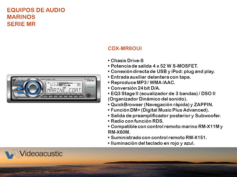 EQUIPOS DE AUDIO MARINOS SERIE MR