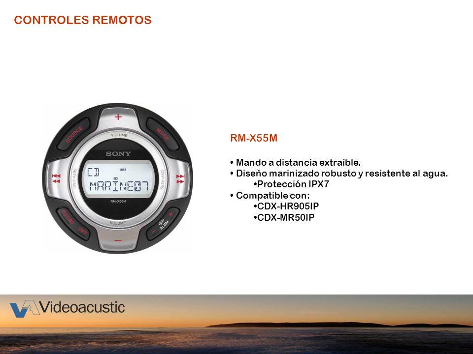 CONTROLES REMOTOS RM-X55M Mando a distancia extraíble.