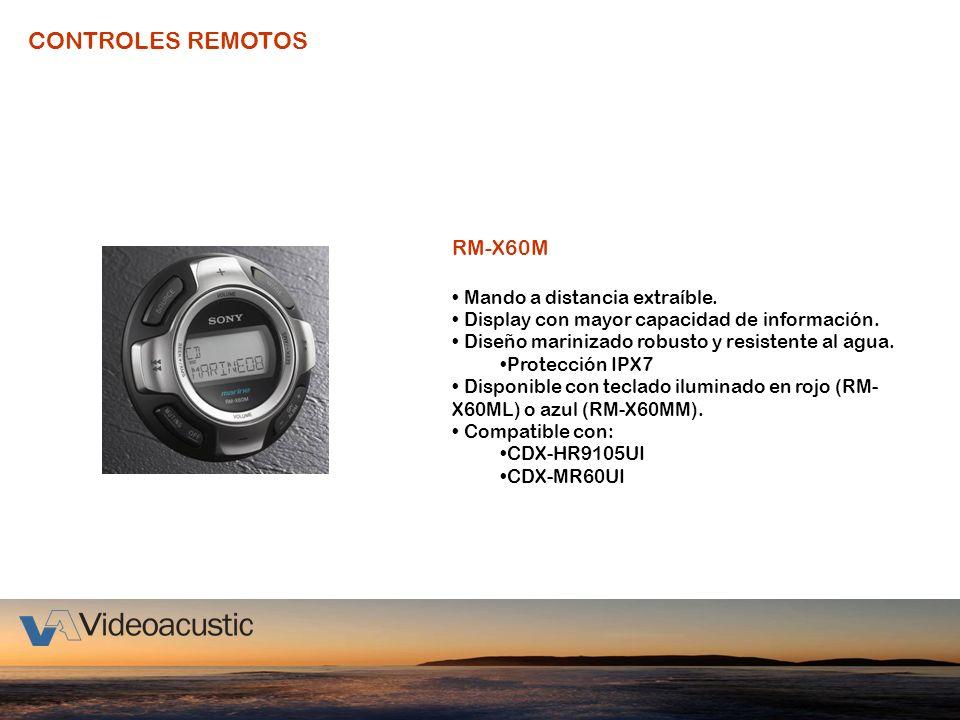 CONTROLES REMOTOS RM-X60M Mando a distancia extraíble.