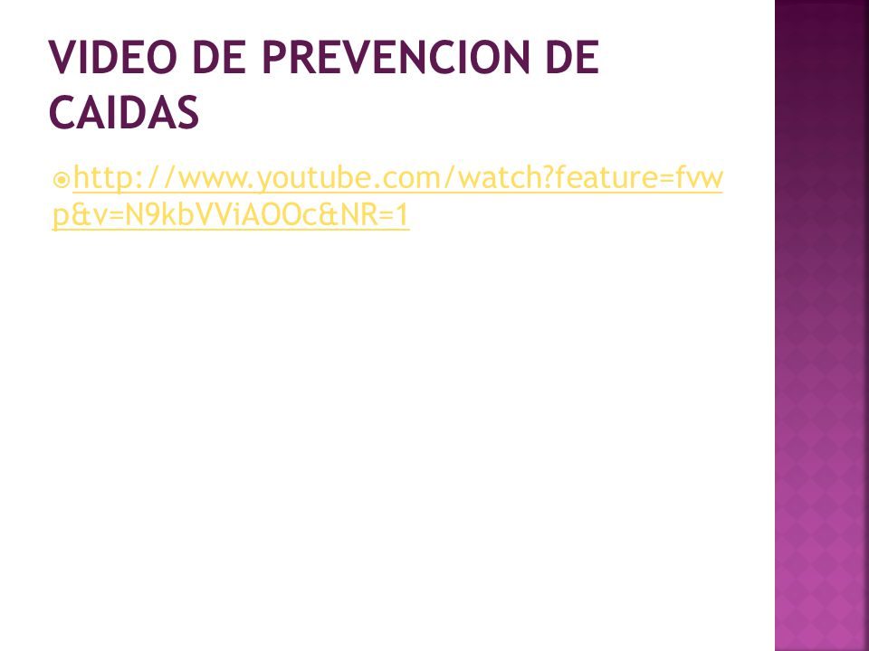 VIDEO DE PREVENCION DE CAIDAS