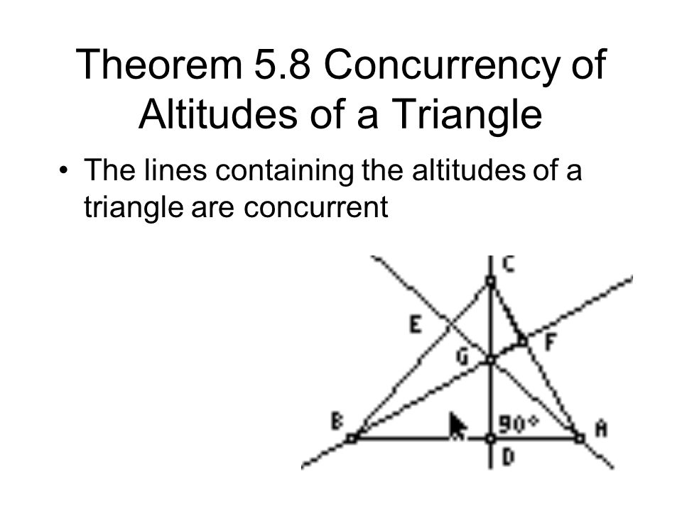 Theorem 5.8 Concurrency of Altitudes of a Triangle