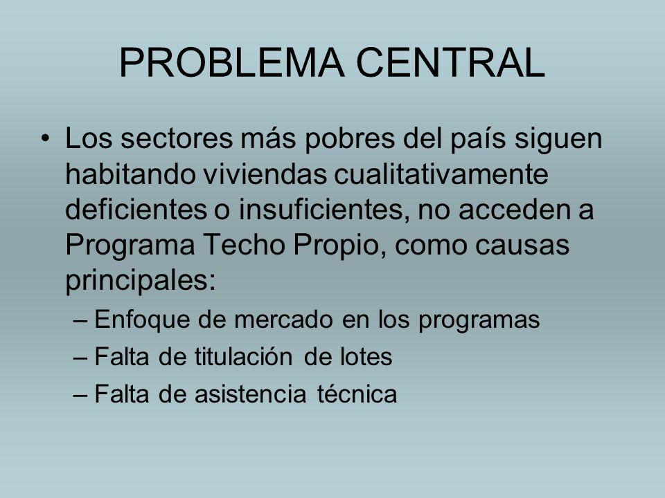 PROBLEMA CENTRAL