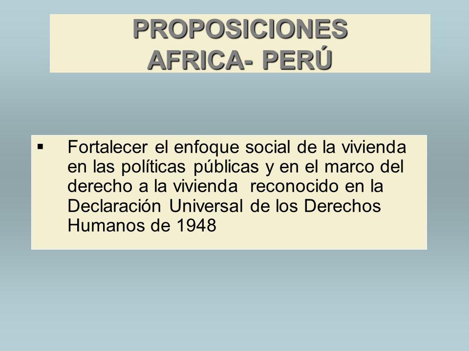 PROPOSICIONES AFRICA- PERÚ