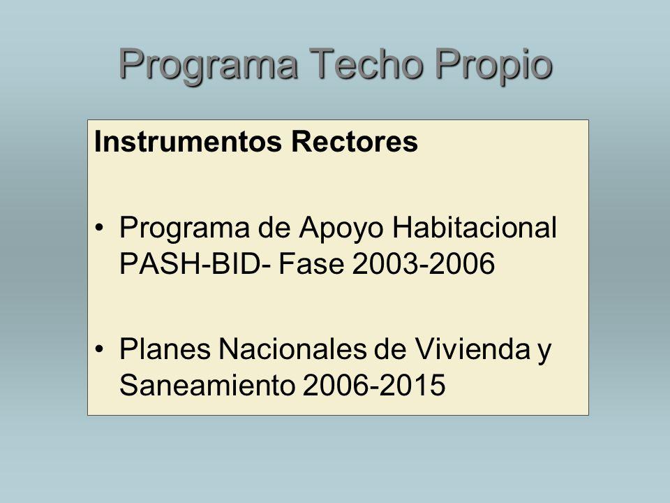 Programa Techo Propio Instrumentos Rectores